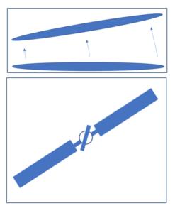 Diagram explaining helicopter delta 3 hinge